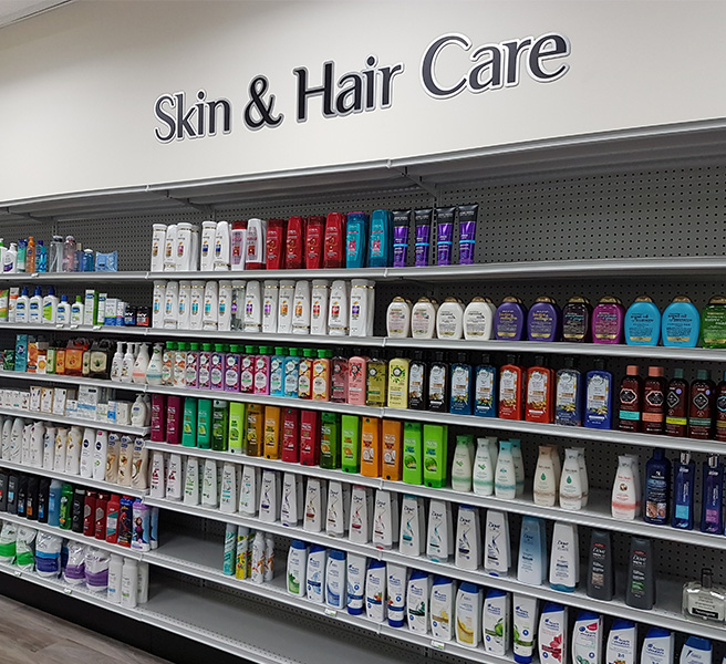 Well Pharmacy skin and hair section