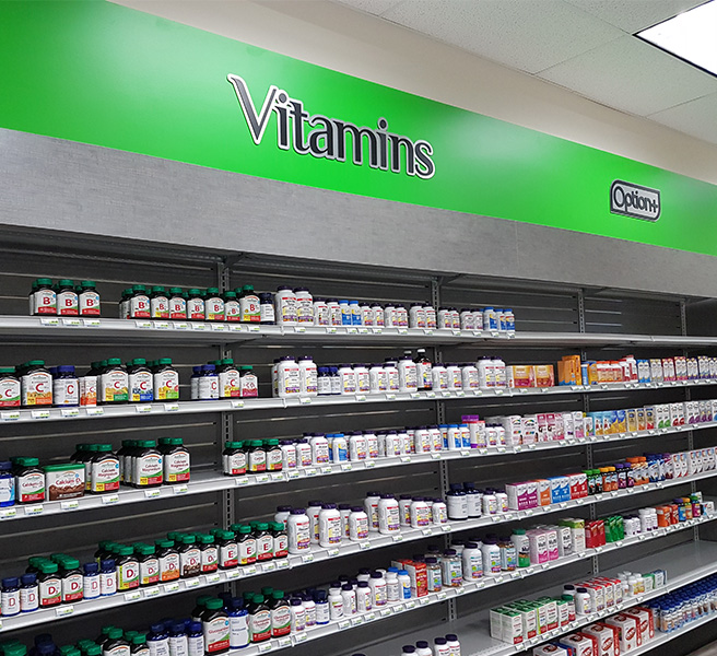 Well Pharmacy vitamin section